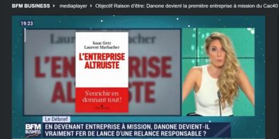 Notre debrief sur Danone entreprise à mission dans BFM Business «Objectif Raison d'être» (5′)