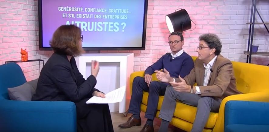 Emission de Cadremploi.fr au studio du Figaro sur le livre «L'entreprise altruiste»