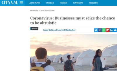 Coronavirus: Businesses must seize the chance to be altruistic