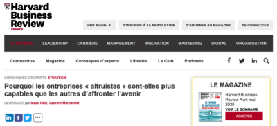 Harvard Business Review France : notre chronique du 6 Mai 2020