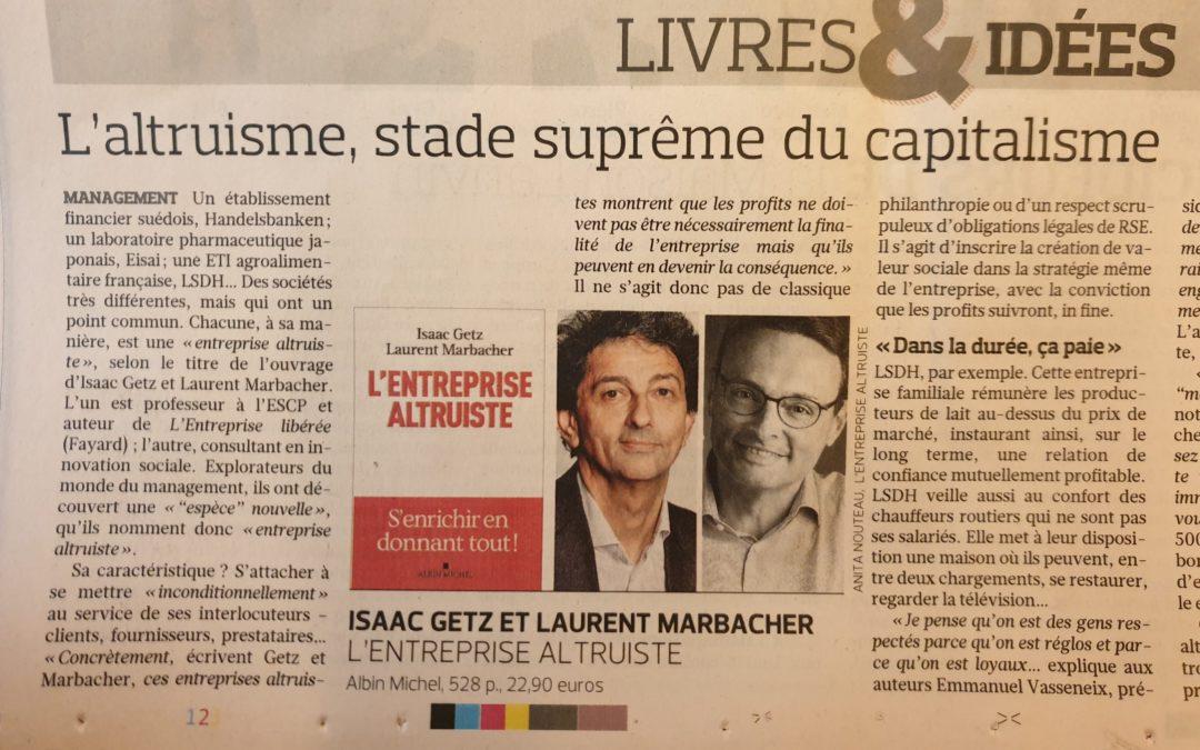 L'altruisme, stade suprême du capitalisme : chronique de Bruno Jacquot dans le Figaro