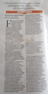 Tribune sur Coronavirus et Entreprises, Getz & Marbacher